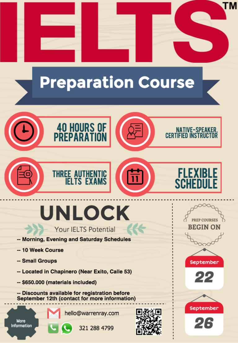 ielts preparation So, we've prepared and put together this express ielts 70+ preparation formula , which is a 10 this course will show you how to prepare for your ielts in the next 4 weeks however, if you are in a.